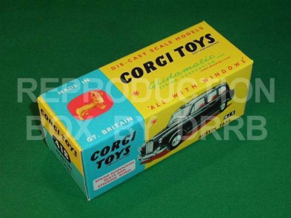 Corgi #418 Austin Taxi - Reproduction Box